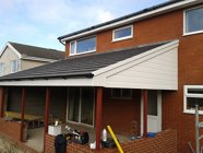 Completed roof/cladding