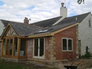 Completed slate extension